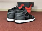 Мужские кроссовки Nike Air Jordan 1 Retro (серо-черный), фото 2