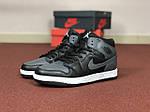 Мужские кроссовки Nike Air Jordan 1 Retro (серо-черный), фото 3
