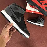 Мужские кроссовки Nike Air Jordan 1 Retro (серо-черный), фото 4