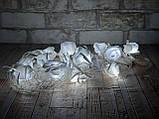 Светодиодная LED гирлянда розы белый холодный 12шт 5м, фото 2