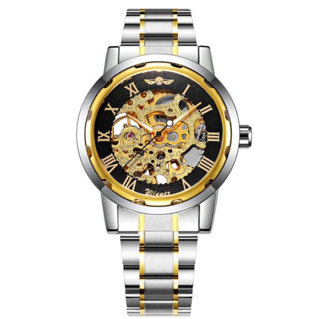 Мужские  механические часы Winner Skeleton с браслетом!