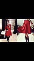 Стильное женское трикотажное платье-балахон