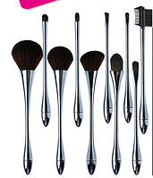 """Набор кистей для макияжа / визажа для профессионалов ELEGANT 10 штук dusk """"сумерки"""""""