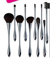 """Профессиональный набор кистей для макияжа / визажа для профессионалов ELEGANT 10 штук dusk """"сумерки"""""""