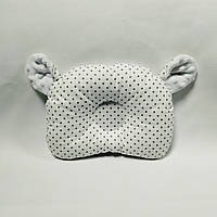 Ортопедическая подушка для новорожденного masterwork teddy bear аэропух 21*27 см. белая в горшек