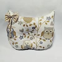 Ортопедическая подушка для младенца masterwork owlet 27*38 см. бежевая