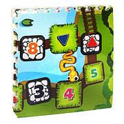 Детский EVA коврик-пазл для игр на полу плотный с рисунком Панды (размер см: 60*60, в упаковке 4 плиты)