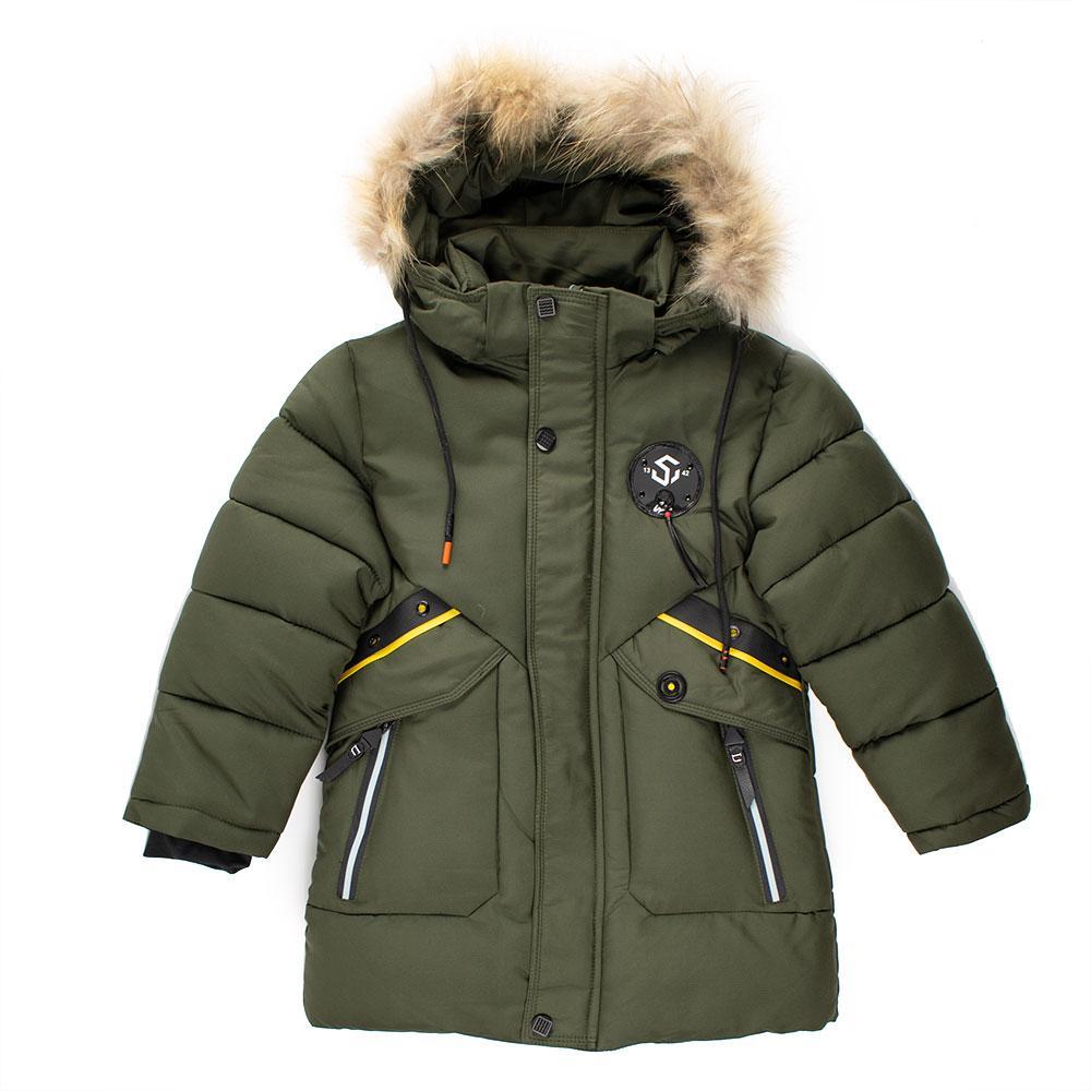 """Куртка зимняя для мальчиков """"GLX"""" 110  хаки GLX-1928"""