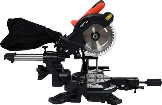 Профессиональная торцовочная пила 185 мм 18 В YATO YT-82817, фото 2
