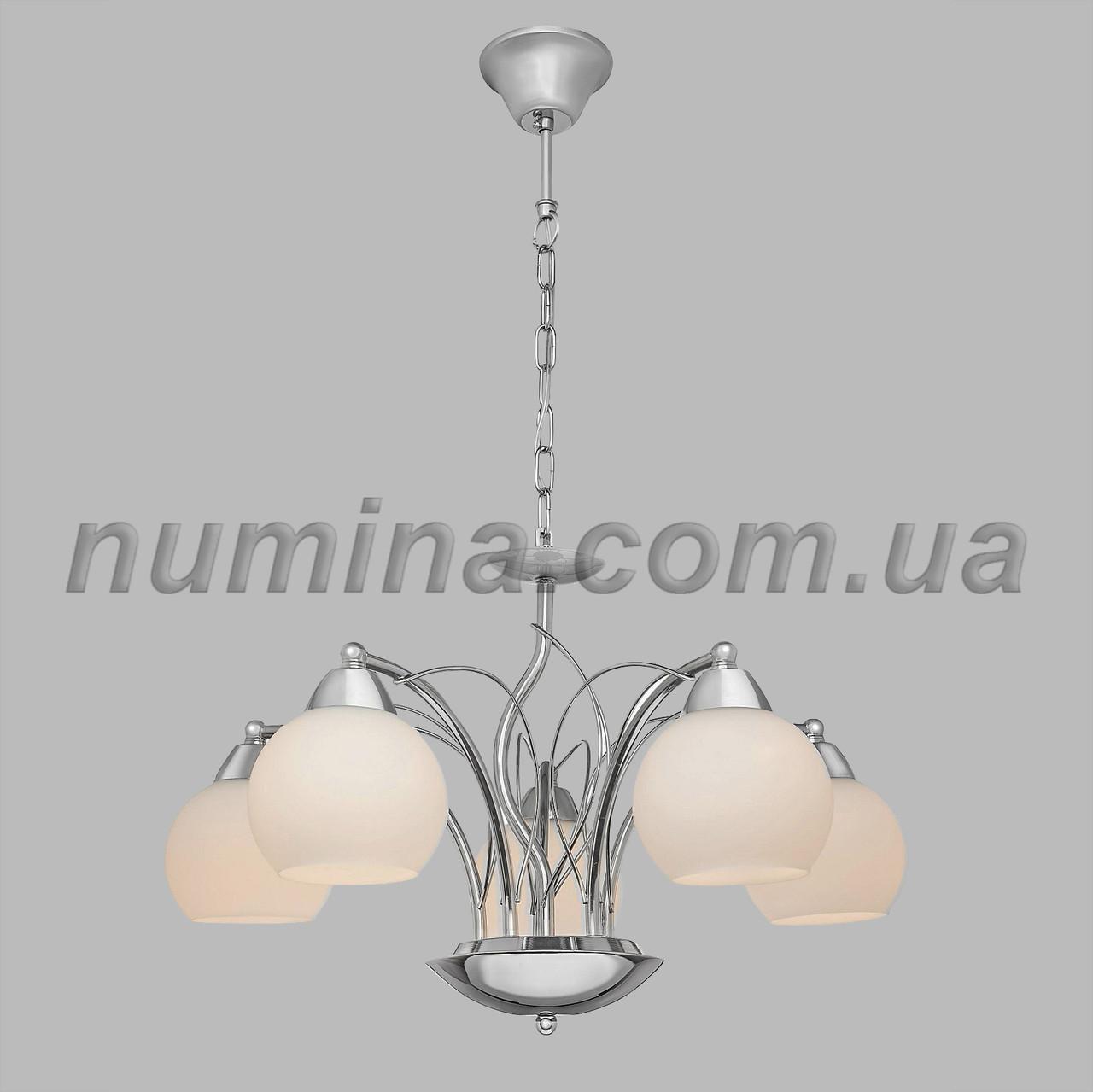 Люстра подвесная на пять ламп 29-A609/5 CR+WT