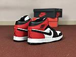 Мужские кроссовки Nike Air Jordan 1 Retro (черно-бело-красные), фото 2