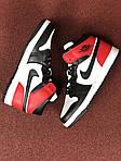 Мужские кроссовки Nike Air Jordan 1 Retro (черно-бело-красные), фото 4