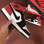 Мужские кроссовки Nike Air Jordan 1 Retro (черно-бело-красные), фото 5