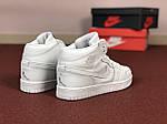 Женские кроссовки Nike Air Jordan 1 Retro (белые), фото 3