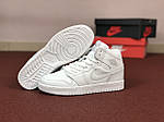 Женские кроссовки Nike Air Jordan 1 Retro (белые), фото 4