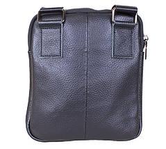 Мужская кожаная сумка 1923-1 Dovhani черная 22 х 19 х 3,5см, фото 3