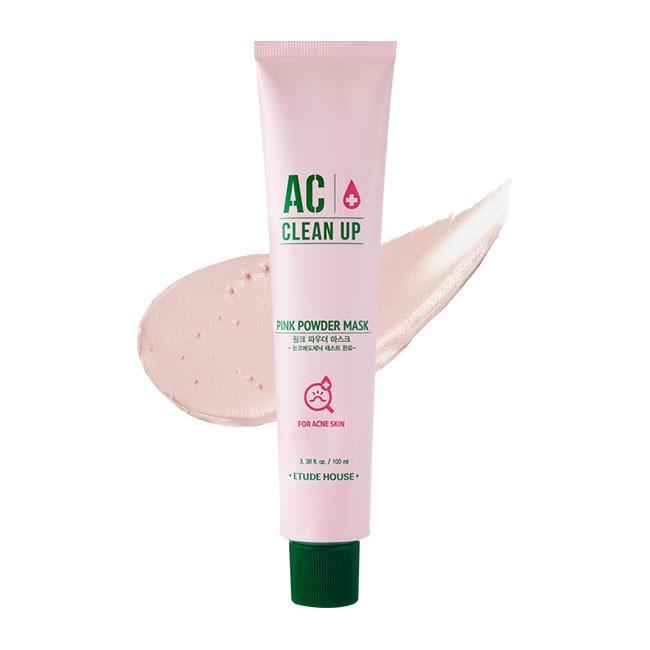 Успокаивающая маска для лица с розовой глиной Etude House AC Clean Up Pink Powder Mask