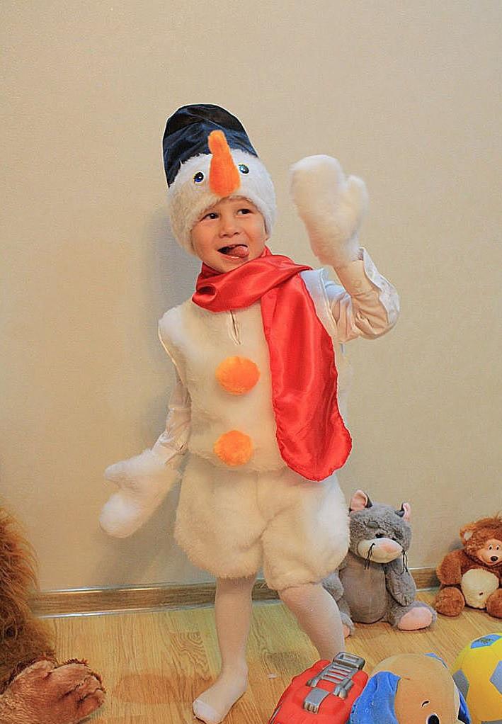 Снеговик Детский новогодний костюм