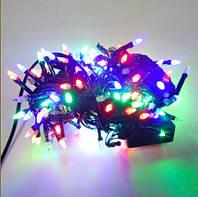 Гирлянда Нить Конус рис светодиодная LED 200 лампочек Разноцветный, 1000 см, черный провод (1-18, 12200-01)