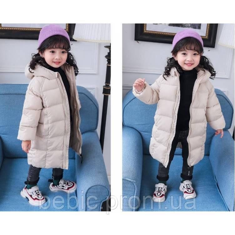 Зимове пальто беж Рост:100-140 см