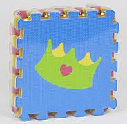 Детский EVA коврик-пазл для игр на полу плотный с рисунком Игрушки НКС017 (30*30 см, в упаковке 9 плит)