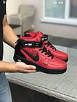 Мужские зимние кроссовки Nike Air Force 1 LV8 High (красно-черные), фото 3