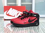 Мужские зимние кроссовки Nike Air Force 1 LV8 High (красно-черные), фото 4