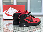 Мужские зимние кроссовки Nike Air Force 1 LV8 High (красно-черные), фото 5