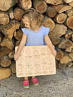 """Пазл-сортер """"Овощи"""" из дерева от 3-х лет, раскраска для развития ребенка, 46*36 см."""