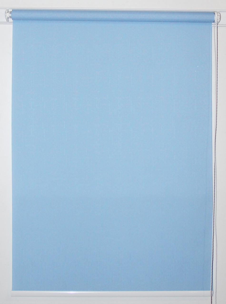 Рулонная штора 1200*1500 Ткань Лён 2074 Аква