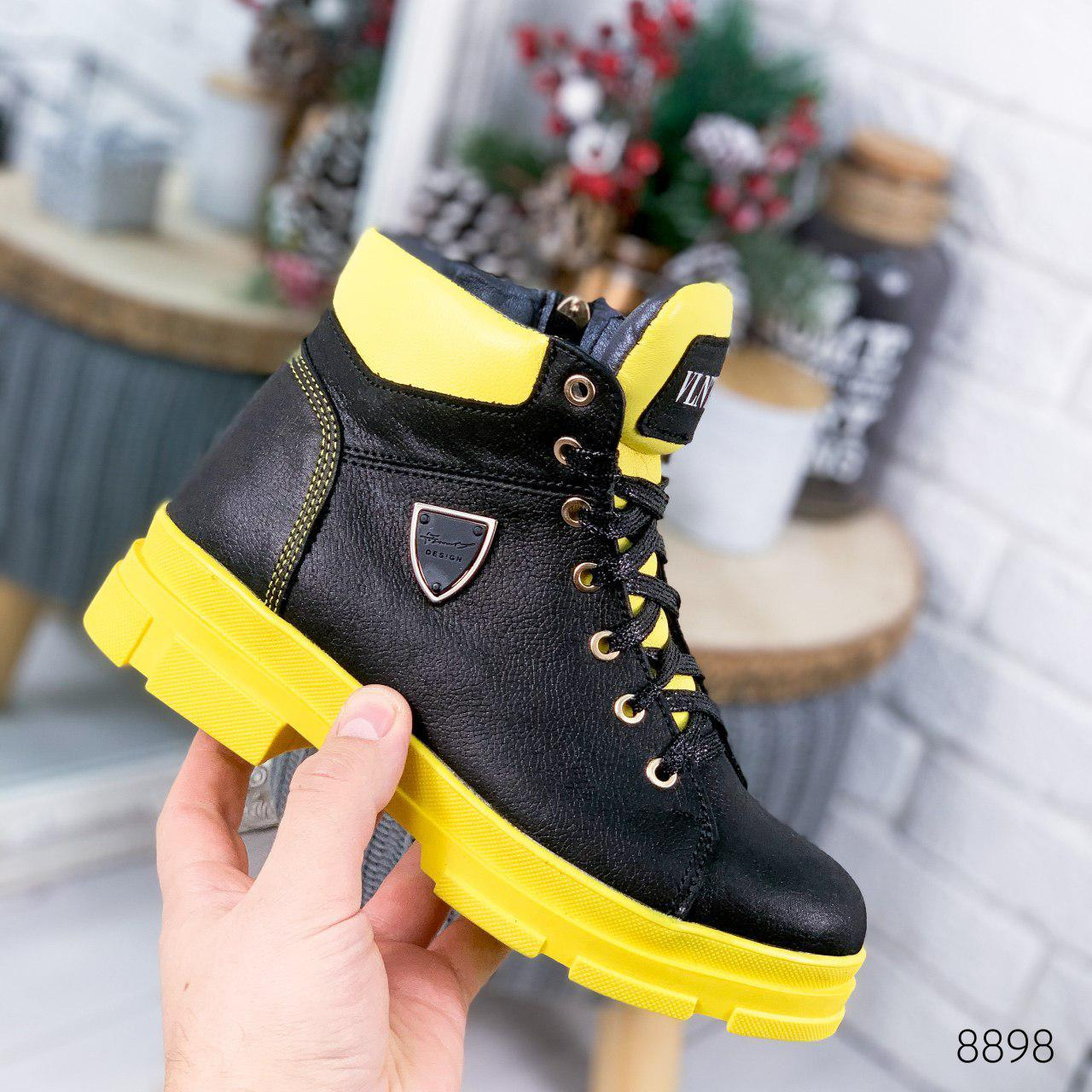 """Ботинки женские зимние, черного цвета из натуральной кожи """"8898"""". Черевики жіночі. Ботинки теплые"""