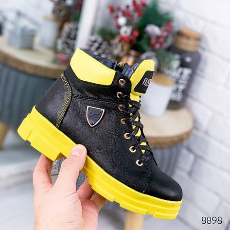 """Ботинки женские зимние, черного цвета из натуральной кожи """"8898"""". Черевики жіночі. Ботинки теплые, фото 2"""