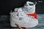 Мужские зимние кроссовки Nike Air Force 1 LV8 High (белые), фото 6