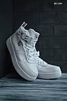 Мужские зимние кроссовки Nike Air Force 1 LV8 High (белые), фото 9