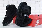 Мужские зимние кроссовки Nike Air Force 1 High (черные), фото 6