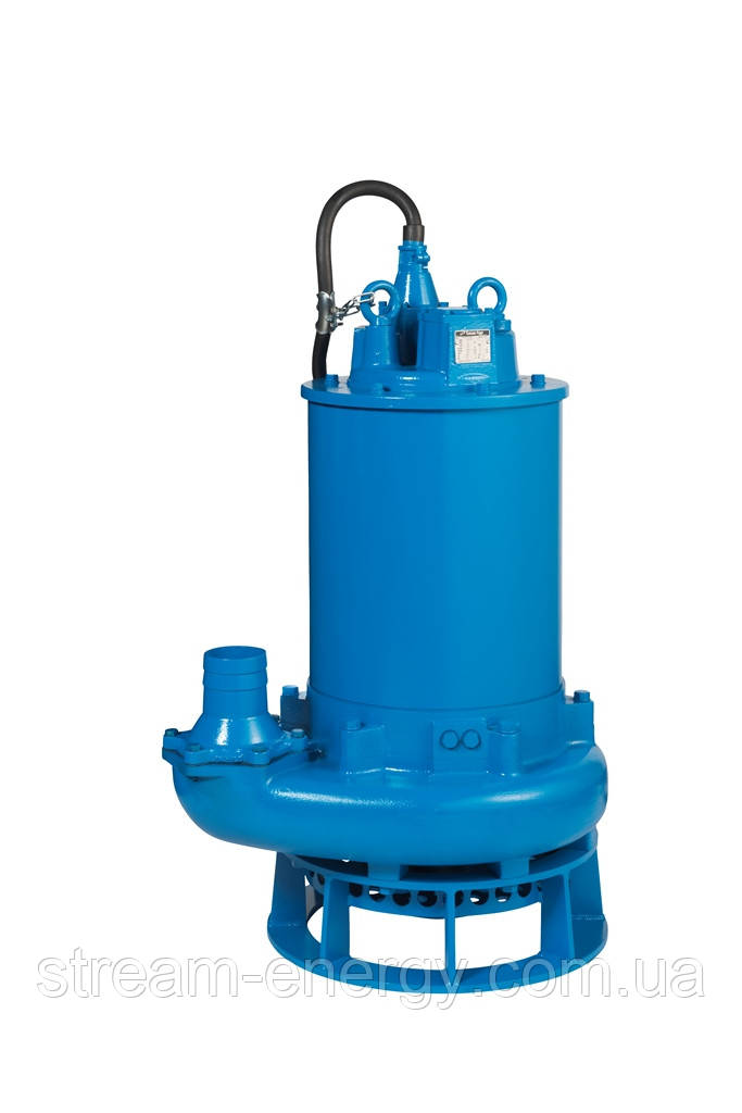 Шламовый насос Tsurumi Pump GPN422 с агитатором (до 222м3/час, напор до 34м, частицы до 30мм)