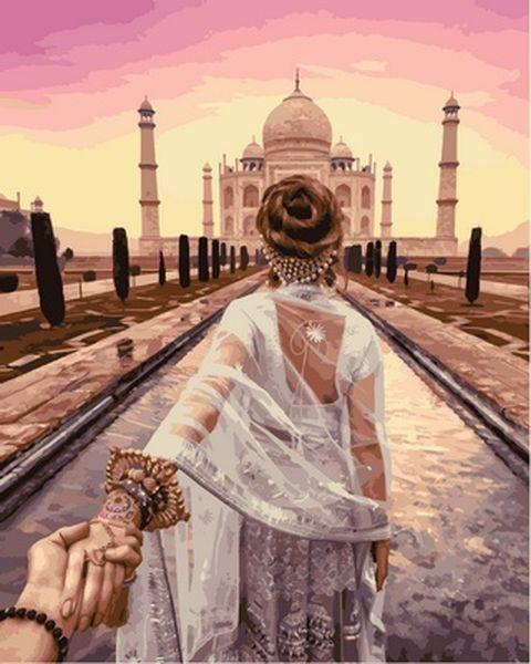 Картина за номерами 40×50 див. Babylon Йди за мною Індія Фотохудожник Мурад Османн (VP 716)