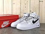 Мужские кроссовки Nike Air Force AF 1 High (бело/черные), фото 3
