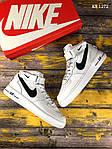 Мужские кроссовки Nike Air Force AF 1 High (бело/черные), фото 4