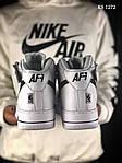 Мужские кроссовки Nike Air Force AF 1 High (бело/черные), фото 6