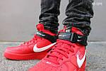 Мужские кроссовки Nike Air Force 1 07 Mid LV8 (красные) ЗИМА, фото 3