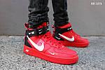 Мужские кроссовки Nike Air Force 1 07 Mid LV8 (красные) ЗИМА, фото 4