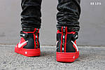Мужские кроссовки Nike Air Force 1 07 Mid LV8 (красные) ЗИМА, фото 5