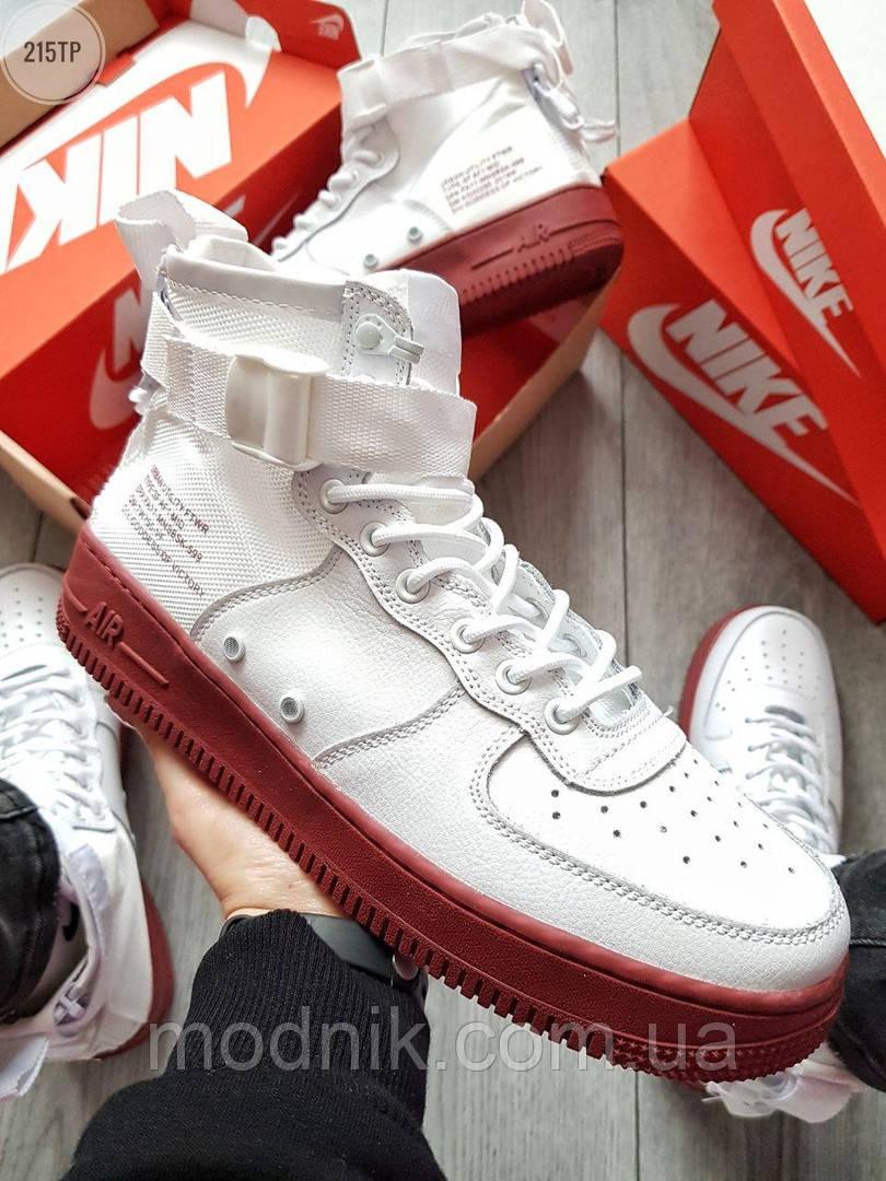 Мужские демисезонные кроссовки Nike Air Force Hight Urban Utility FTWR (белые)