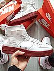 Мужские демисезонные кроссовки Nike Air Force Hight Urban Utility FTWR (белые), фото 4