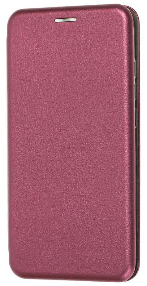 Чехол (книжка) премиум для Xiaomi Mi A3 бордо