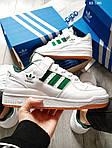Мужские кроссовки Adidas Forum Mid (бело/зеленые), фото 3