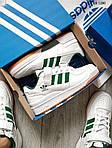 Мужские кроссовки Adidas Forum Mid (бело/зеленые), фото 4