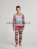 Піжама хлопчик Ellen Новорічний настрій трикотаж двунитка р.152 - 027/006/1