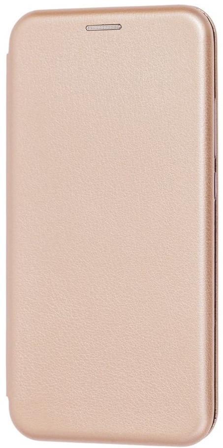 Чехол (книжка) премиум для Xiaomi Mi A3 золотая